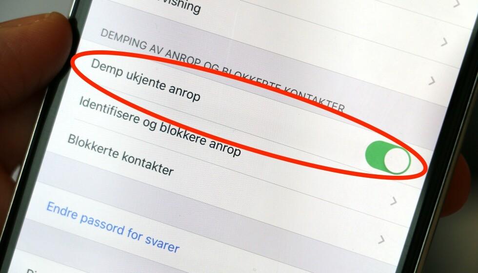 AHHHH: Skrur du på denne nye iOS 13-innstillingen, slipper du å bli plaget av uønskede oppringinger. Foto: Kirsti Østvang