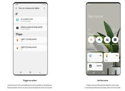 SmartThings-hjemmet ditt styrer du via appen. Foto: Samsung