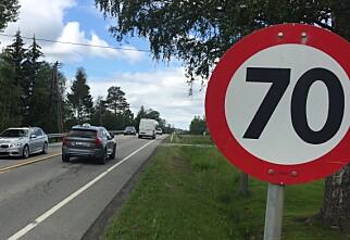 Det kan bli 70- og 40-grense på mange norske veier
