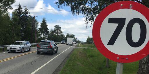 image: Det kan bli 70- og 40-grense på mange norske veier