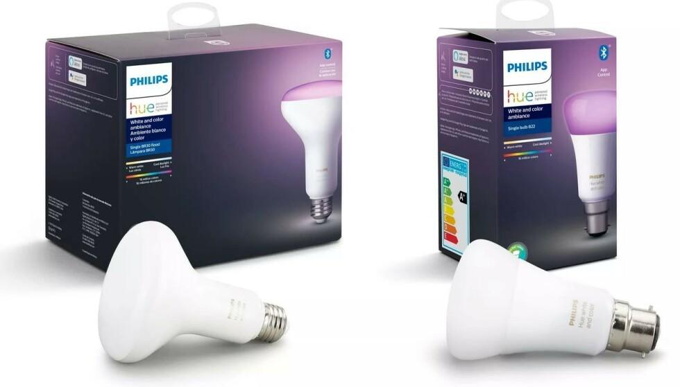 FÅR BLUETOOTH: Til høsten vil disse Philips Hue-lyspærene få støtte for Blueooth. Foto: Produsenten