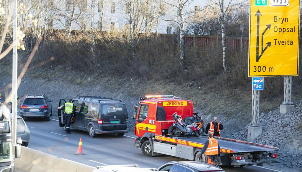 <strong>MC-ULYKKE:</strong> Trygg Trafikk sier de er bekymret for ulykkesutviklingen så langt i 2019. Foto: Håkon Mosvold Larsen/NTB scanpix