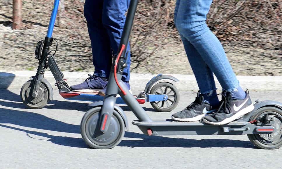 ULYKKER: I juni ble det registrert 107 skader relatert til bruk av elsparkesykler. Foto: Kirsti Østvang