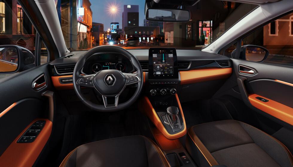 INTERIØRET: Slik kan det nye kjøremiljøet i Renault Captur se ut (om du velger det slik). Foto: Renault