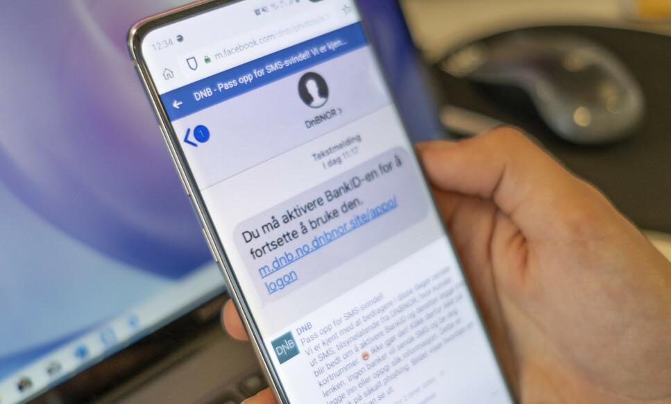 NY SVINDEL: DNB advarer om en ny SMS-svindel. Foto: Martin Kynningsrud Størbu