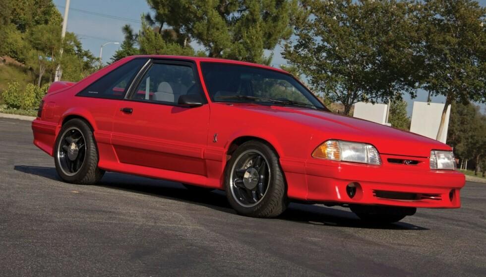 «AVSKJEDSGAVE»: 1993 Mustang SVT Cobra.
