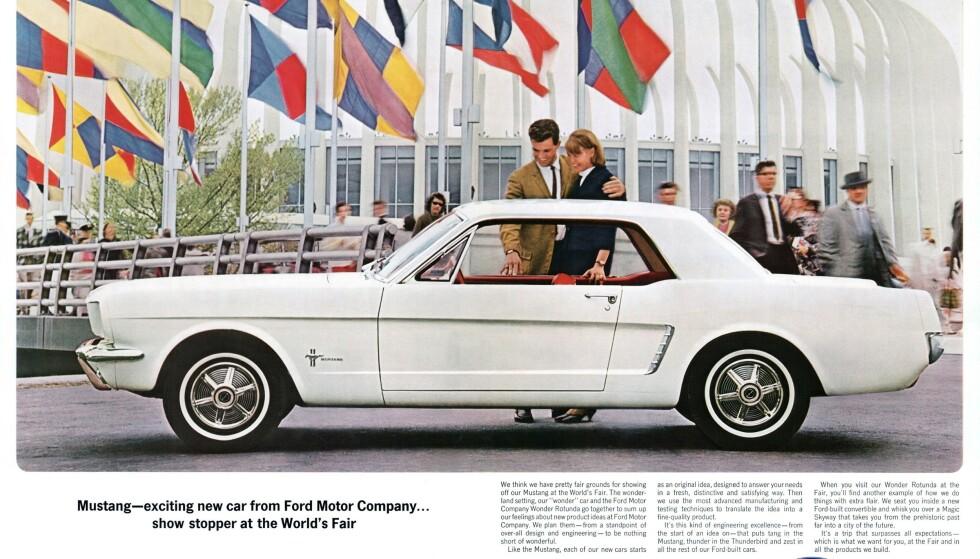 IKKE HALV: Ford 1964 ½ Mustang.