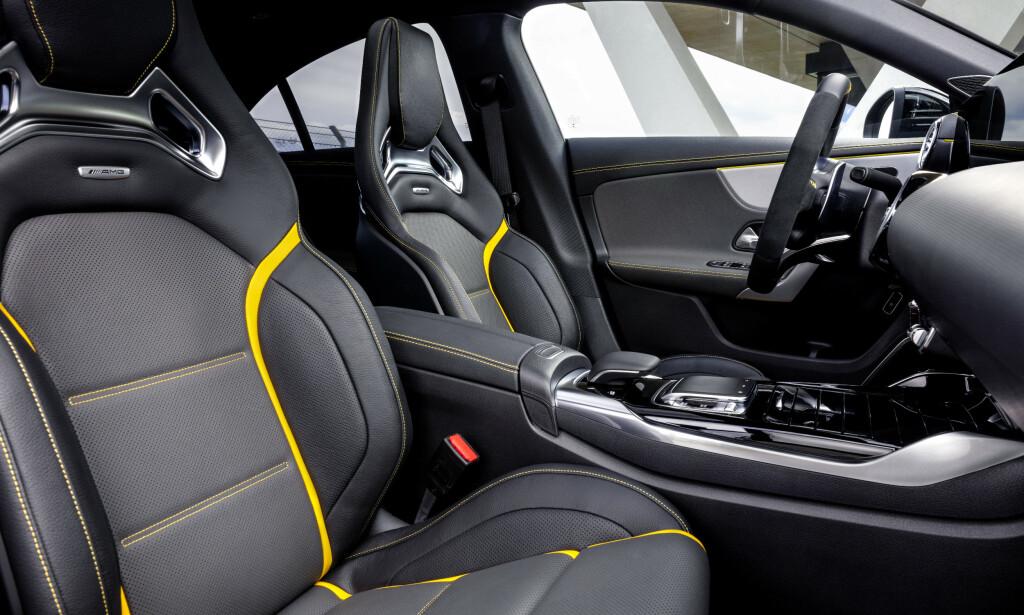 TRE SETEVALG: Du har flere muligheter på setevalg. Ma nkan gjøre bilen ganske anonym hvis man ønsker det. Foto: Mercedes