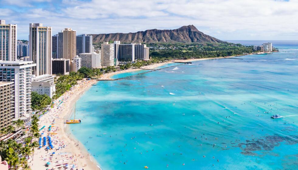 Hawaii, her fra Waikiki beach på Honolulu. Foto: NTB Scanpix