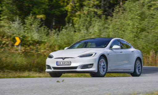 VELDIG KREVENDE: Tesla Model S. Foto Jamieson Pothecary
