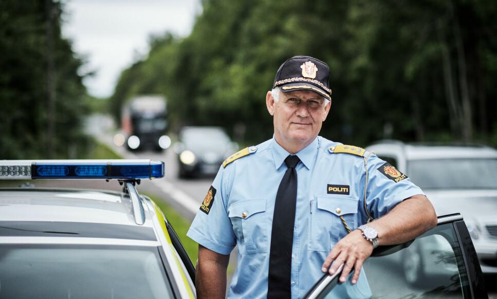 107 UTSATTE VEIER: - Vi har plukket ut 107 utsatte veistrekninger over hele landet, som nå overvåkes spesielt nøye, forteller UP-sjef Runar Karlsen. Foto: UP