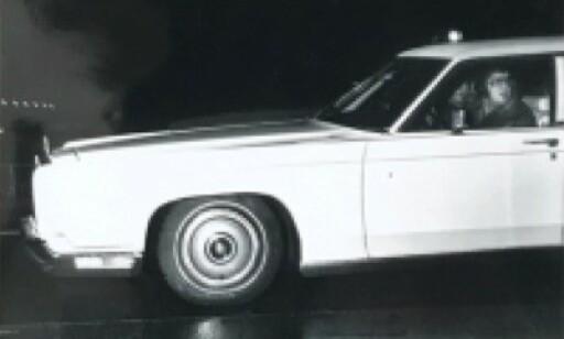 1973 LINCOLN CONTINENTAL: Elvis i sin limousin. Bildet er fra pressemeldingen.