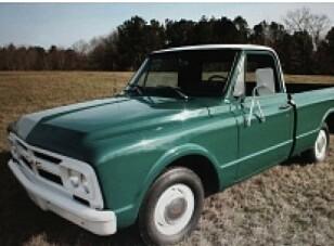 <strong>TYPISK AMERIKANSK:</strong> Også en GMC-pickup er en av Elvis-gjenstandene som selges på auksjonen. Foto: Kruse GSW Auctions
