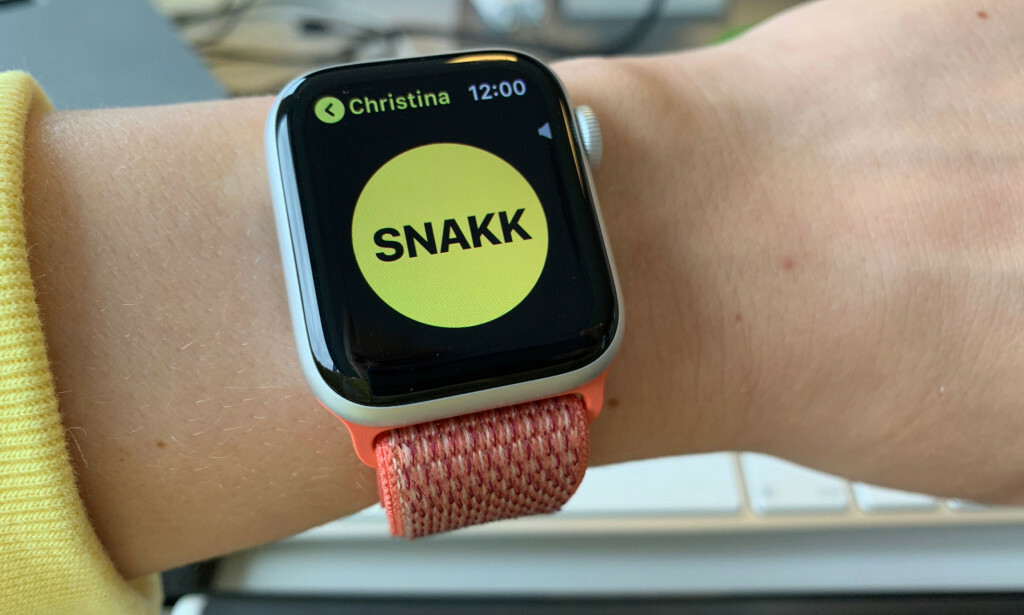 IKKE MULIG Å BRUKE: Apple måtte deaktivere denne appen på Apple Watch. Foto: Kirsti Østvang