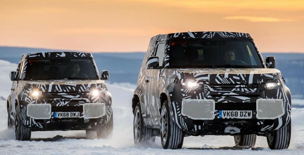 SPENNENDE BILER: Vi lar ikoniske Land Rover Defender, som kommer i ny, moderne utgave til høsten, vise vei for høstens spennende bilnyheter. Foto: Land Rover