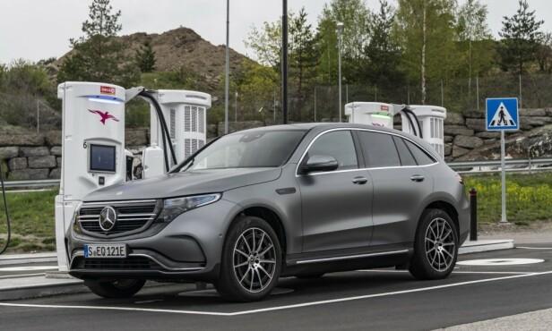 STORE FORVENTNINGER: Med EQC skal Mercedes-Benz konkurrere med elbiler som Audi e-tron og Jaguar I-Pace. Foto: Mercedes-Benz
