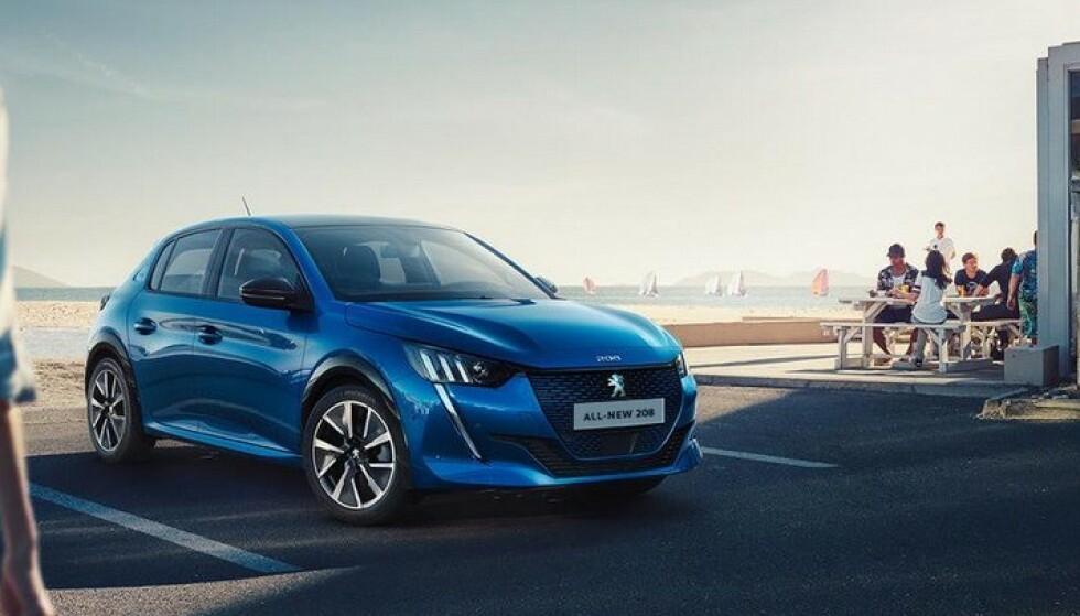 SOM OPEL Også Peugeot 208 kommer med bensinmotor i år, før den elektriske varianten gjør sin inntreden tidlig i 2020. Foto. Peugeot