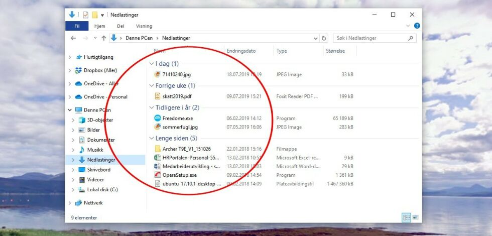image: Fiks nedlastinger-mappa i Windows 10