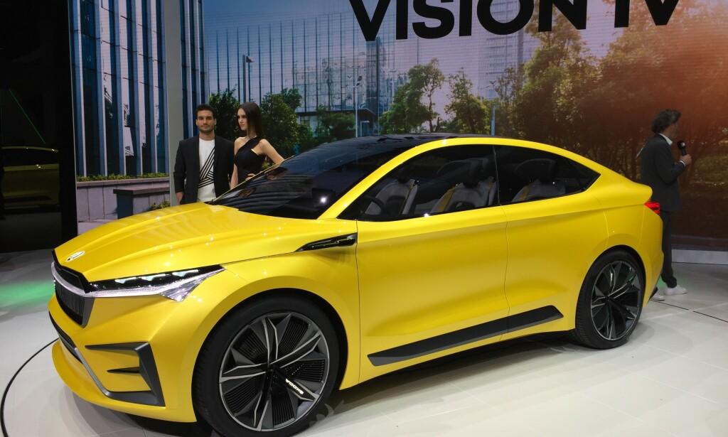 SPENNENDE SUV: Skoda Vision vil få lang rekkevidde og firehjulsdrift. Her snakker vi ny folke-elbil! Foto: Fred Magne Skillebæk
