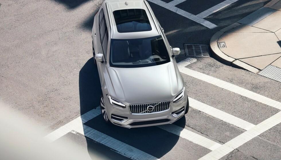 BLIR HELELEKTRISK: Volvos flaggskip, Volvo XC90, skal komme som elbil om få år. Foto: Volvo