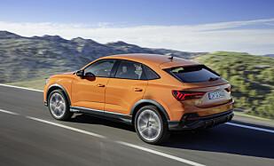 SPORTY: Audi ønsker at Sportback-utgaven skal fremstå mer sportslig, med lavere og hellende taklinje. Foto: Audi