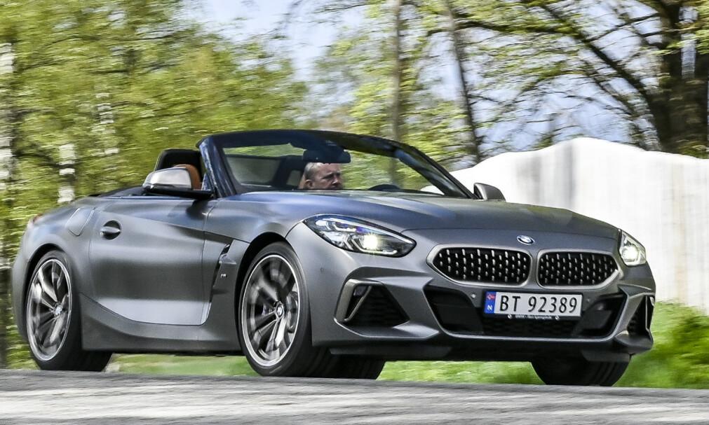 BMW Z4 M40i: Dette er og blir det største alternativet hos Z4, ifølge BMW. Men 340 hester holder. Foto: Jamieson Pothecary