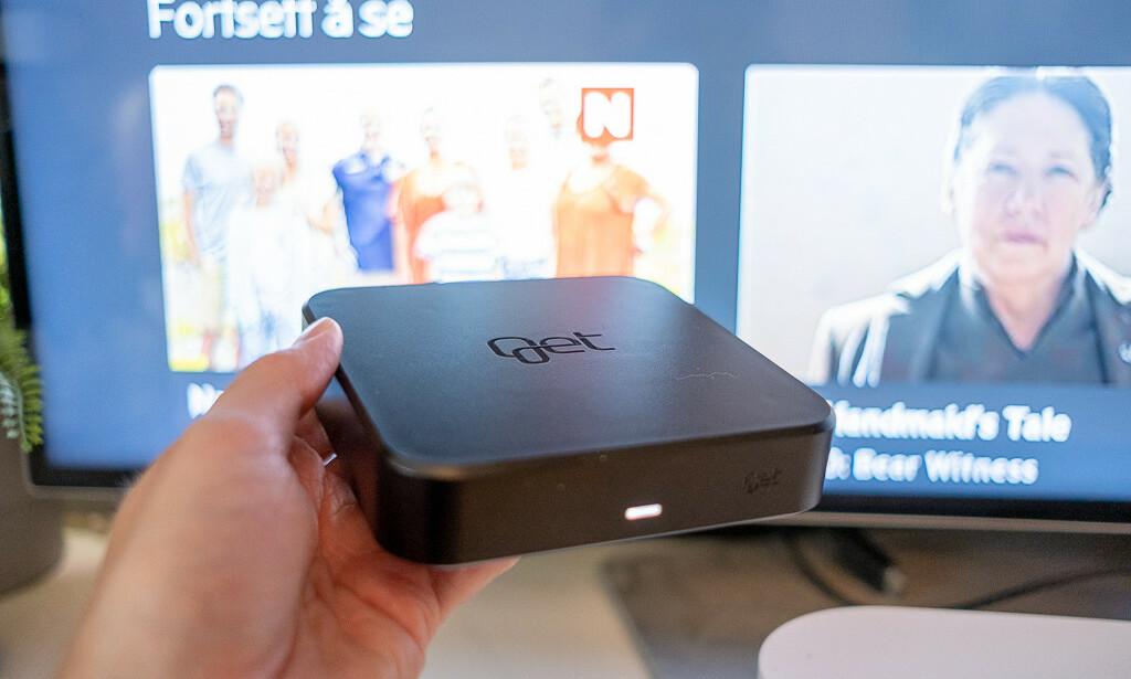 GET BOX: Mange har endret TV-vanene sine. Gets nye dekoder blander det beste fra tradisjonell TV med strømming. Foto: Martin Kynningsrud Størbu