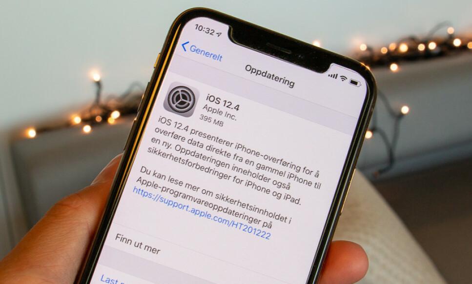OPPDATER IPHONEN DIN: Sjansen for å bli rammet er kanskje ikke så stor, men du gjør uansett lurt i å oppdatere til iOS 12.4. Foto: Martin Kynningsrud Størbu