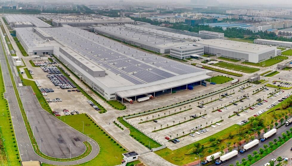 Det er solide dimensjoner over fabrikkene som Volvos kinesiske eier Zhejiang Geely Holdings eier. Her fra Luqiao-fabrikken i Kina. Foto: Volvo Cars