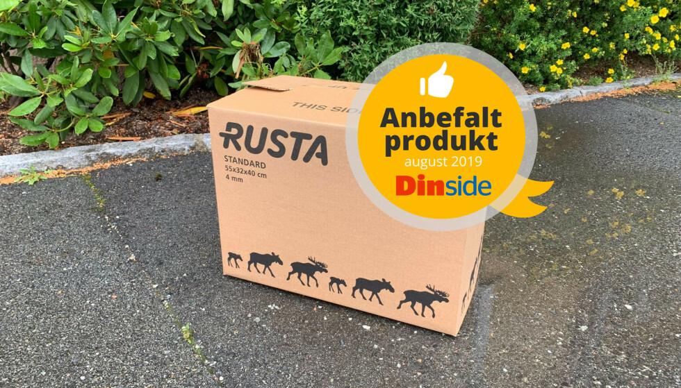 ANBEFALT: Esken fra Rusta får vår Anbefalt produkt-stempel for august 2019. Foto: Dinside