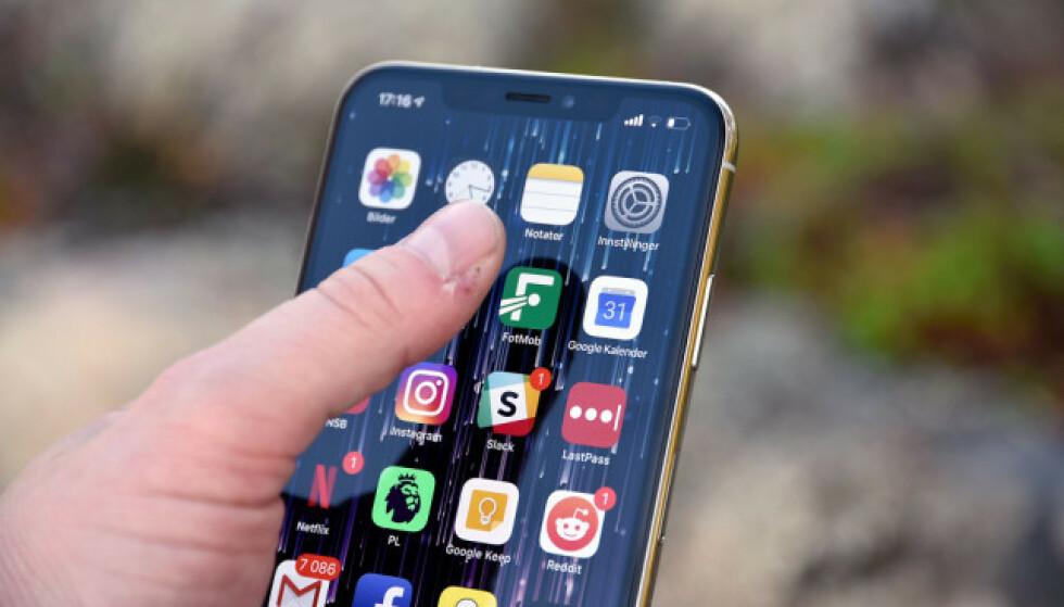 NEDGANG: Apple selger færre nye iPhoner, og nå er de for lengst passert av Huawei. Foto: Pål Joakim Pollen