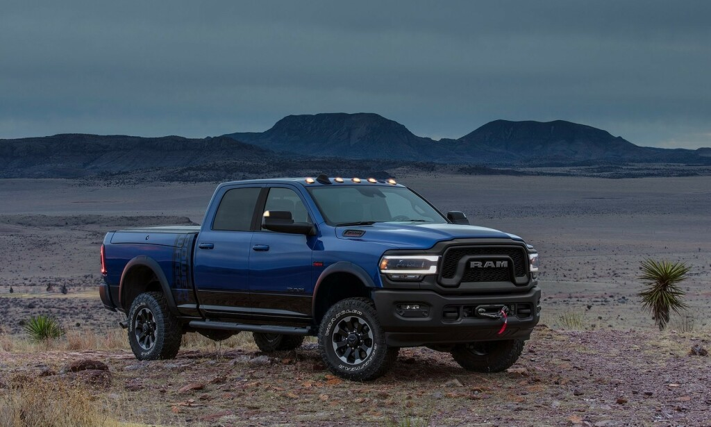 HELT RAM: RAM er verdens kraftigste pickup i sitt segment – med 400 hester fra en 6,7-liters turbodiesel. Bilen har slått såpass godt an i statene at den sikrer resultatet for eieren FiatChrysler. Foto: FiatChrysler
