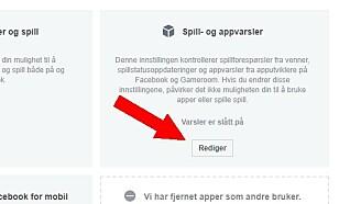 NETTLESER: Se etter denne knappen dersom du bruker nettleseren på PC-en når du besøker Facebook. (Skjermdump)