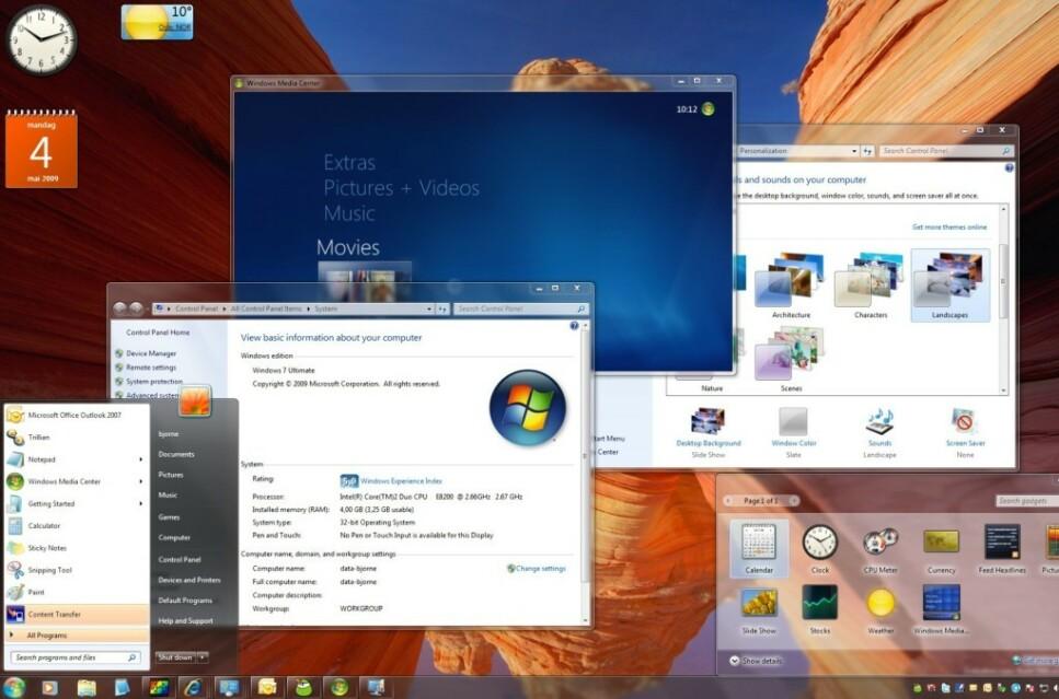 <strong>BESTE WINDOWS?:</strong> Windows 7 er fortsatt uhyre populært, selv ti år etter at operativsystemet så dagens lys. Men det finnes mange gamle programmer som fortsatt brukes i hopetall. Skjermdump: Dinside.no