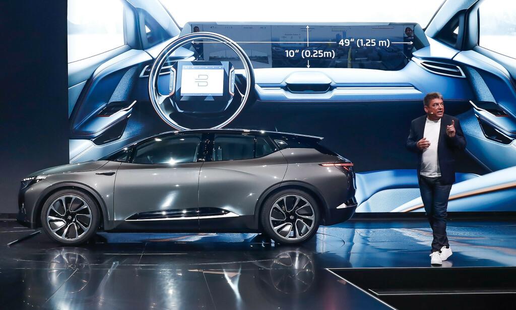 11.000 I KØ: Byton blir kanskje den mest luksuriøse elbilen fra Kina. Over 11.000 nordmenn står allerede på venteliste. Foto: Byton.
