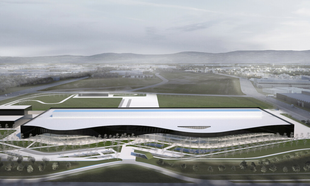 SNØHETTA: Den nye Polestar-fabrikken i Chengdu i Kina er designet av norske Snøhetta. Ill: Snøhetta