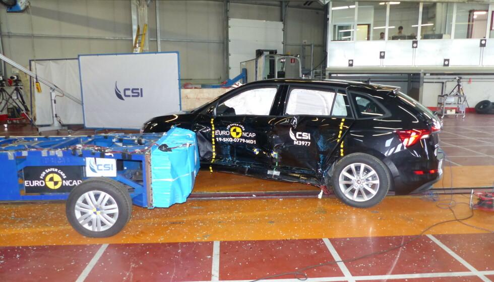 GOD SMÅBIL: Nye Skoda Scala er en av de sikreste småbilene som er testet. Foto: Euro NCAP
