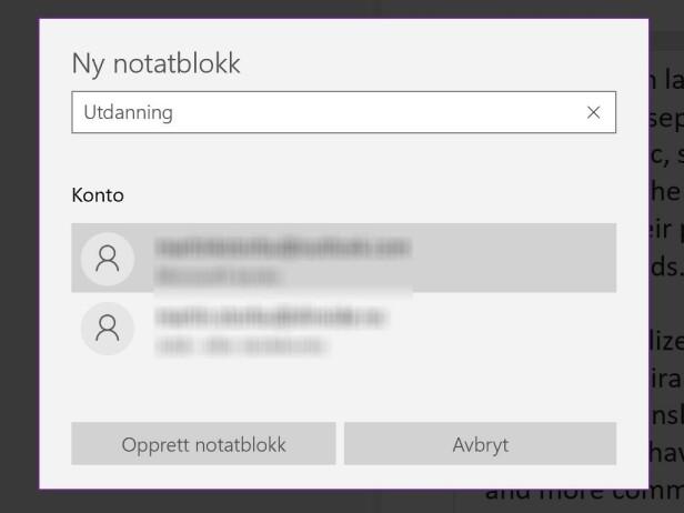 Slik kommer du i gang med en ny notatblokk i OneNote.