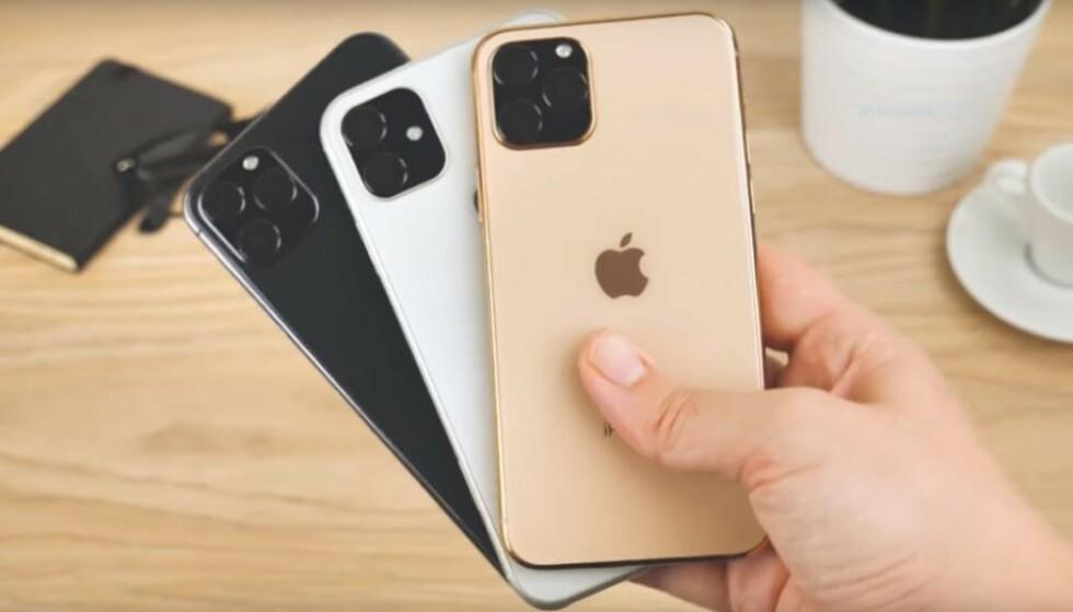 Er det slik iPhone 11 blir, med et stort, kvadratisk trippelkamera? Foto: MobileFun