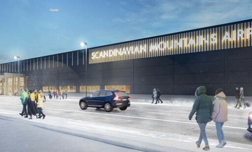 Scandinavian Mountains Airport (SCA) ligger på den svenske siden av svenskegrensa, 40 minutter fra Trysil. Illustrasjon: SCA