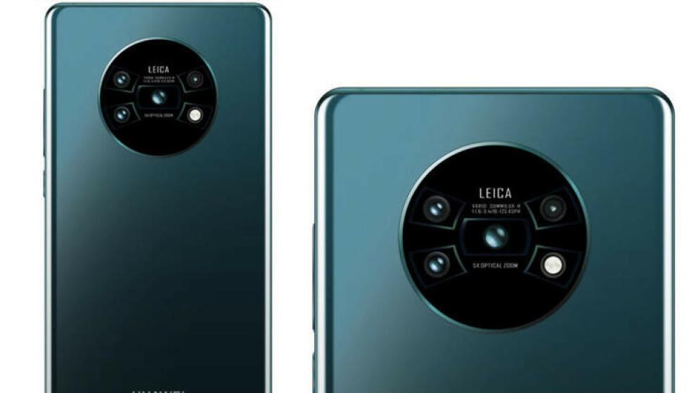 Mate 30 Pro kan få en massiv kameraløsning på baksiden ifølge ryktene. Foto: Weibo