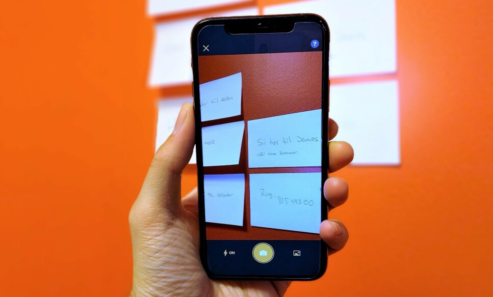 POST-IT: Du kan faktisk digitalisere opptil 200 kvadratiske notiser samtidig. Foto: Martin Kynningsrud Størbu