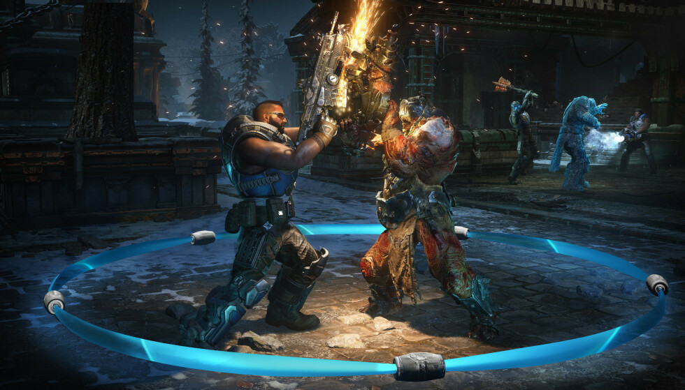 Hva er et «Gears of War»-spill uten motorsagdueller? Foto: Xbox Game Studios