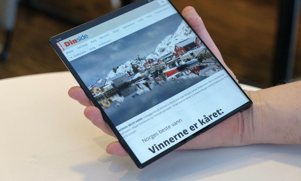 DYRT Å BYTTE: En knust Mate X-skjerm vil koste mer enn en iPhone 11 å bytte. Foto: Martin Kynningsrud Størbu