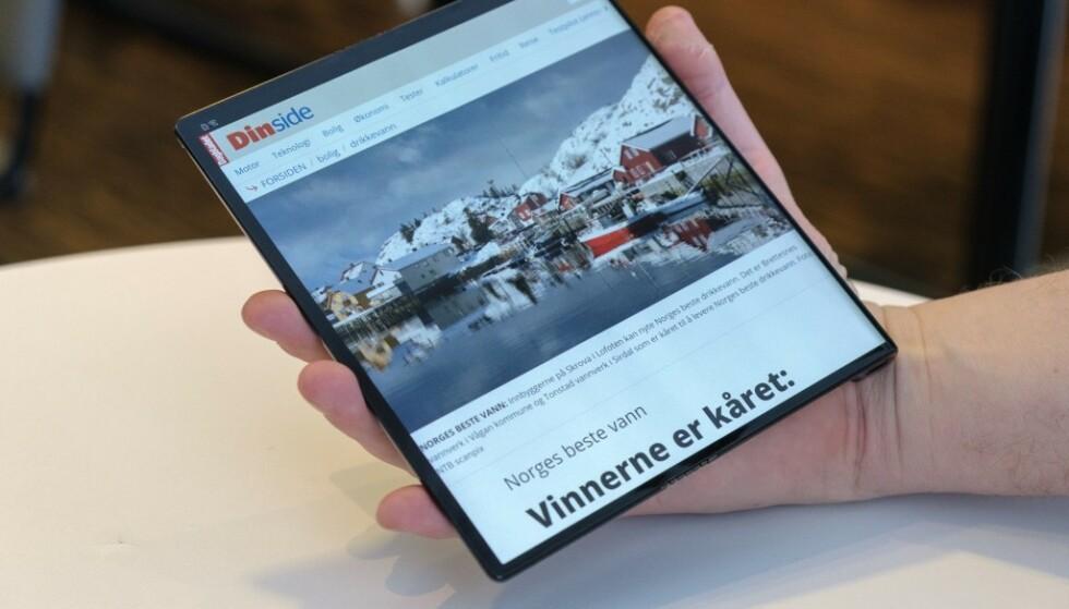 UTSETTES: Huawei Mate X blir ikke tilgjengelig i september allikevel. Nå sikter Huawei trolig mot november-lansering. Foto: Martin Kynningsrud Størbu