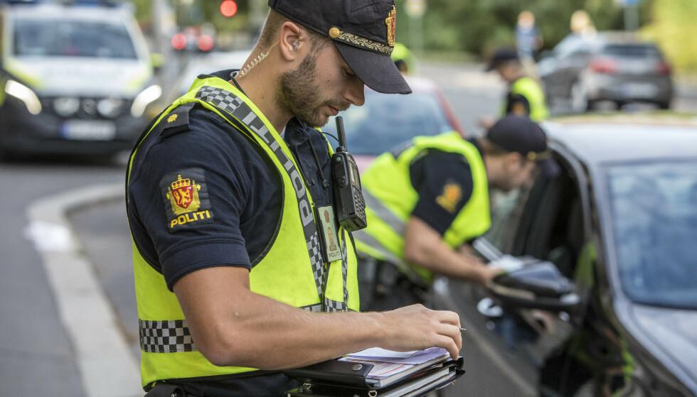 SYNLIGE: Politiet vil være ekstra synlige i trafikken i ukene rundt skolestart. Foto: Ole Berg Rusten/NTB Scanpix