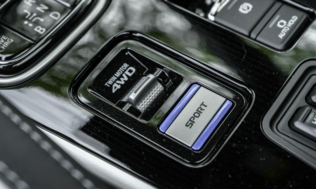 FLERE PROGRAMMER: Elektrisk håndbrekk og flere kjøreprogrammer er tilgjengelig. Foto: Rune M. Nesheim