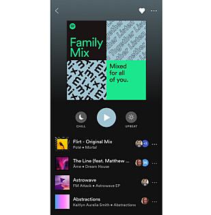 Family Mix er en kommende spilleliste for Spotify Family-abonnenter. Foto: Spotify