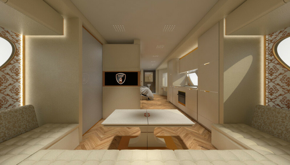 ROMSLIG: Lounge-sofaen innbyr til gode kvelder. Foto: Marchi Mobile