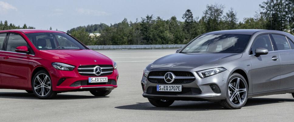 ENDELIG LADBART: Mercedes har en voldsom offensiv på ladbare hybrider. Allerede nå har Mercedes 12 ladbare modeller. Neste år skal de ha over 20. Foto: Mercedes-Benz